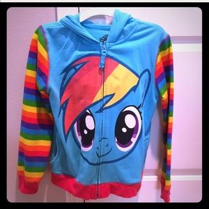 My little pony hoodie in new condition, size 12-14